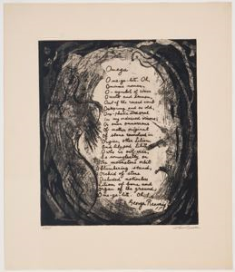 "Image of Omega from ""21 Etchings and Poems"""