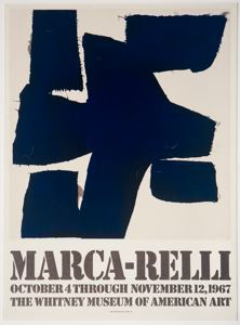 Image of Marca-Relli Exhibition, Whitney Museum of American Art (poster)