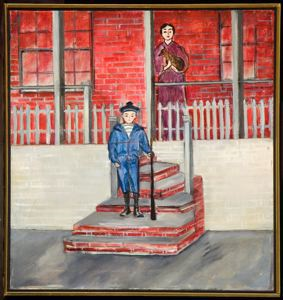 Image of Boy on the Steps