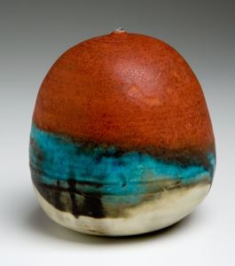 Image of Globular Closed Form, Ocean Edge glaze