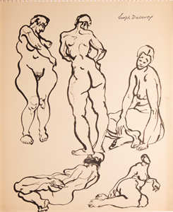 Image of Five female nudes in various poses