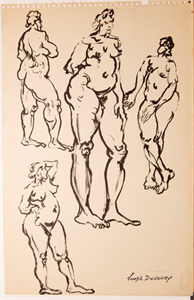Image of Four female nudes