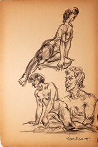 Image of Three figure sketches