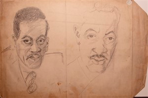 Image of Self-portrait sketches
