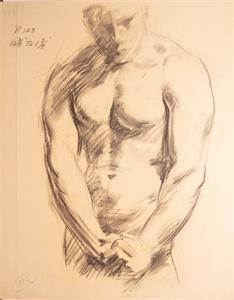 Image of Sketch of male torso