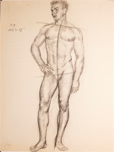 Image of Figure sketch of nude male