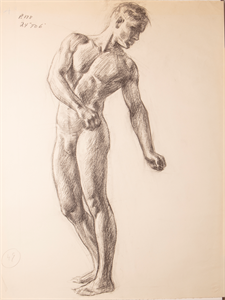 Image of Sketch of a male figure nude standing