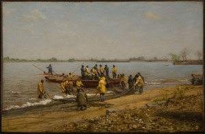 Image of Shad Fishing at Gloucester on the Delaware River