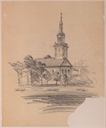 Image of Church sketch, Terra Haute and Preliminary drawings for the Auditorium for Women's Department Club and community theater, Terra Haute, Indiana