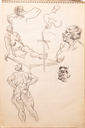 Image of Sketchbook of nude figure studies