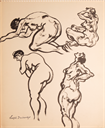 Image of Four female nudes in various poses